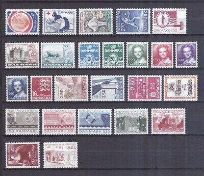 Dänemark Postfrisch Jahrgang 1983 Siehe Bild