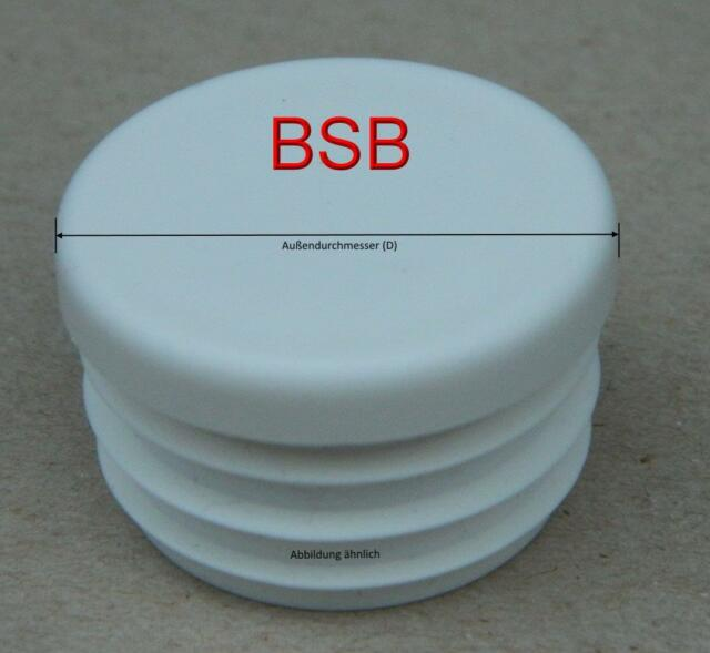10 runde Lamellenstopfen 22 mm WS 1,0-2,5 mm  WEISS Rohrkappen