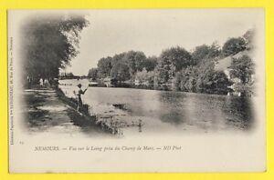 cpa-FRANCE-77-NEMOURS-Vue-sur-le-LOING-prise-du-CHAMP-de-MARS-Pecheurs