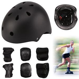 Skateboard-protection-set-bike-scrooter-helmet-knee-elbow-wrist-pads-kids-new