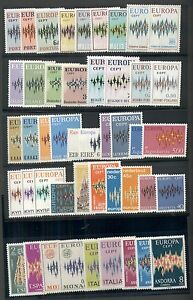 EUROPA-Complete-1972-set-common-design-issues-44-diff-1-NH-VF-Scott-132-65