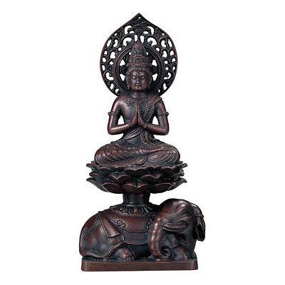 Samantabhadra (Fugen Bosatsu) : Japanese Bronze Statue w paulownia wood box