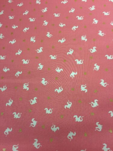 Metallic Baby Dragon Pink  Michael Miller Fabric FQ More 100/%Cotton