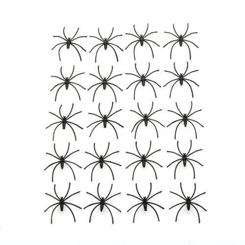 20 Stücke Kunststoff Schwarz Spinne Halloween Dekoration Festival Liefert Scherz