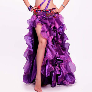 C243-Profi-Bauchtanz-Rock-mit-Volants-Belly-Dance-Skirt-in-4-Farben