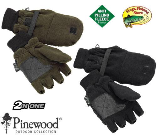 Jäger Handschuhe Jagd Angel Fäustlinge Pinewood 2in1 Thinsulate Fleece Angler