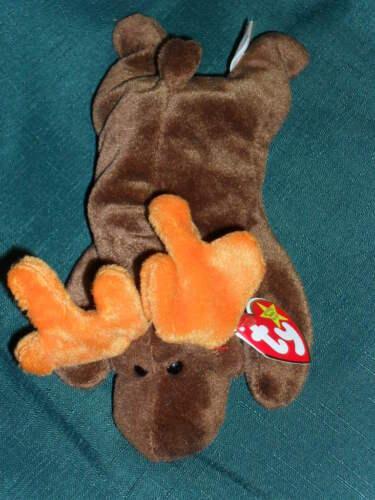 "9/"" TY beanbag plush Original BEANIE BABY /""CHOCOLATE/"" Moose w//Tag 1993"