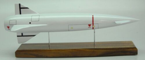 Blue Steel Missile AVro Rocket Mahogany Kiln Wood Model Large new