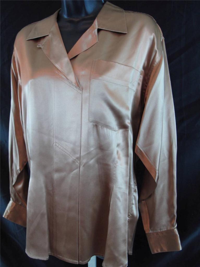 Stefano Studio Woherren Größe 6 US 8 UK Blouse Top 100% Silk