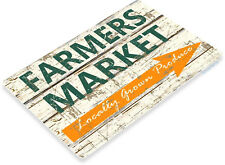 TIN SIGN Farmers Market Metal Produce Décor Wall Art Farm Shop Cottage B043