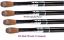 X5-SUPER-Kolinsky-Acrylic-Nail-Brush-for-Powder-Manicure-CRIMPED-Choose-Size thumbnail 1