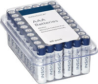 60-Pack Insignia NS-CB60AAA AAA Batteries (White / Blue)