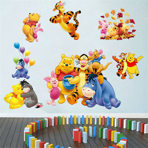winnie the pooh nursery room wall decal decor stickers for kids baby nursery ebay. Black Bedroom Furniture Sets. Home Design Ideas