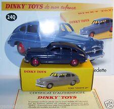 DINKY TOYS ATLAS FORD VEDETTE 49 BLEU MARINE 1/43 REF 24Q IN BOX b