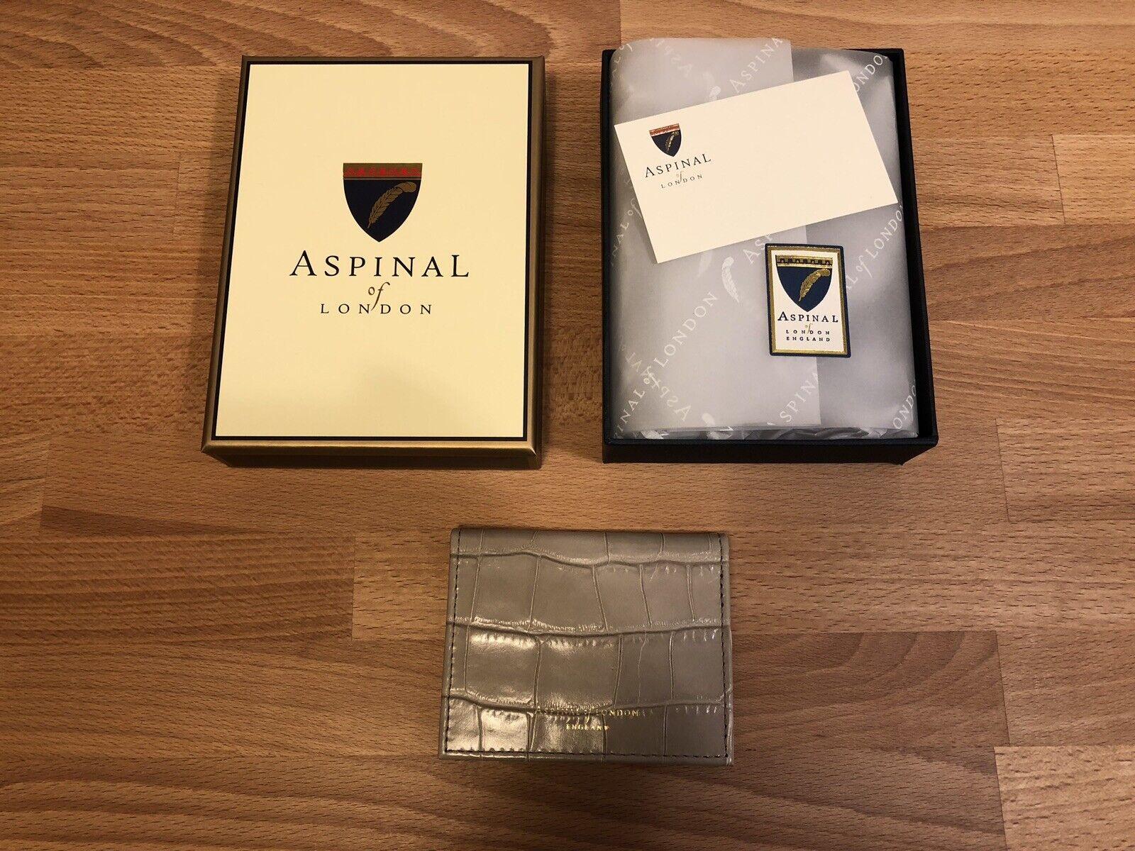Aspinal Of London Taupe Leder Id&travel Kreditkarte Schutzhülle! Neu! Nur