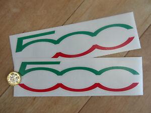 2 X 500 Drapeau Italien Couleurs Coupe Texte Autocollants Stickers 200 Mm Côté Jupe Fiat Etc-afficher Le Titre D'origine