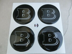 Tuning-Bolts-Hubcaps-Stickers-3D-x-4-Pcs-60-mm-Smart-Brabus-White-Carbon-Fiber
