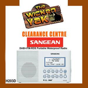 Sangean-Waterproof-DAB-FM-RDS-Portable-Radio-White-H203D-Aus-Warranty-NEW