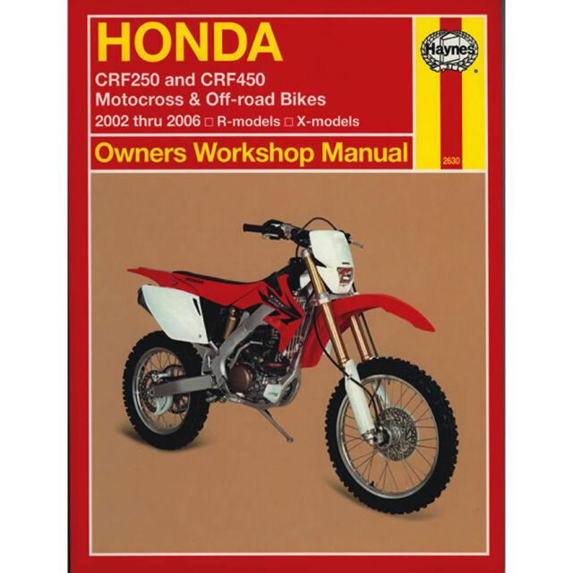 honda crf450r 2005 2006 factory repair workshop manual