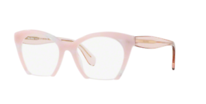 d203ddbce3a Miu Miu VMU 03QV SQT-1O1 Eyeglasses Light Pink Transparent Frame ...