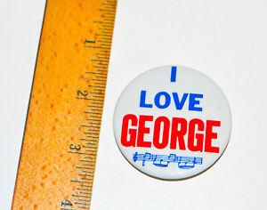 1964-Beatles-2-034-Inch-Pin-Back-Button-I-LOVE-GEORGE-Made-In-USA-Memorabilia