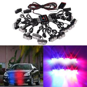 Wireless LED Emergency Car Strobe Light Bars Warning Deck Dash