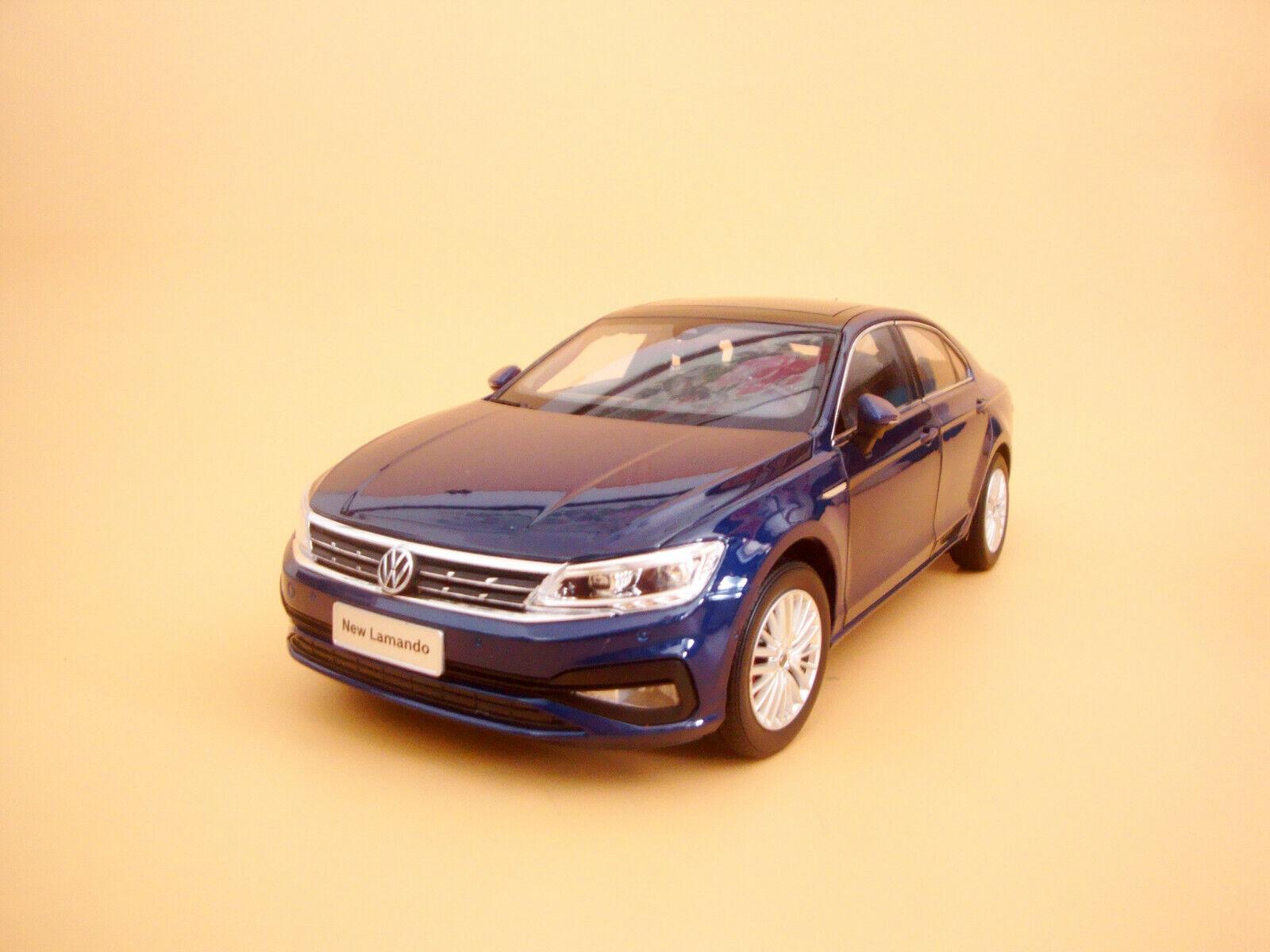 1 18 VW VOLKSWAGEN lamando 2019 Nuevo Modelo De Color Azul + Regalo