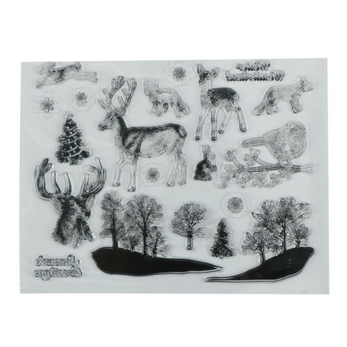 Lovely Xmas theme animals clear stamps scrapbooking album card decor craft  TK