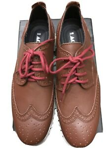 laoks brogues brown mens size 9 business casual dress