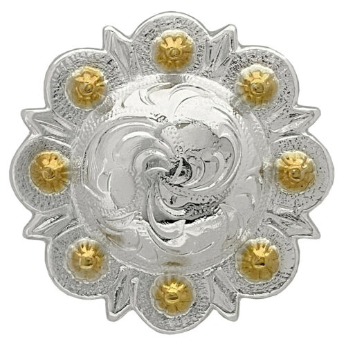 WESTERN SADDLE HORSE TACK ENGRAVED BERRY CONCHOS screw back Multi size