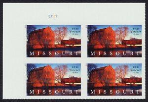 #5626 Missouri Statehood, Placa Bloque [B1111 Ul ] Nuevo Cualquier 5=