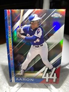 2020 TOPPS CHROME UPDATE A NUMBERS GAME REFRACTOR HANK AARON BRAVES NGC-25 PWE