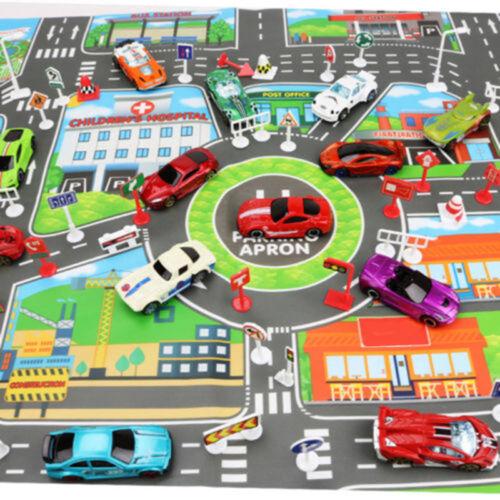 Kinder Karte Pädagogische Spielwaren Spielzeug Auto Spielmatte Straße Gebäude