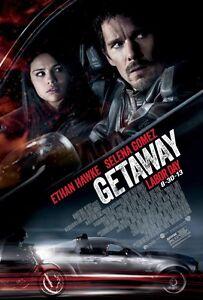 Die Getaway Zweiseitig Original Kinofilm Plakat Ethan Hawke Selena Gomez