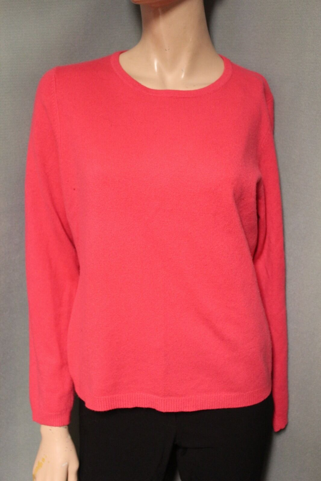 Heather B. 100% Cashmere Pink Sweater Large L