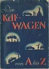 VW KÄFER KdF - Wagen Betriebsanleitung 40iger Bedienungsanleitung Handbuch BA