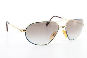 ALPINA Sonnenbrille Sunglasses 1980s W. Germany 58[]16 135 Vintage Pilot Gold