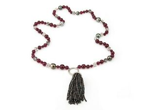 Quartz-Pearl-Ruby-Tassel-Necklace