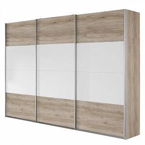 schwebet renschrank 3 trg b 271 cm schlafzimmer eiche sanremo weiss neu ebay. Black Bedroom Furniture Sets. Home Design Ideas