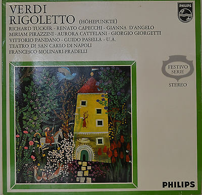 "RIGOLETTO - GIUSEPPE VERDI - FRANCESO MOLINARI PRADELLI  12""  LP (N370)"