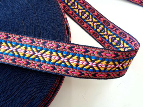 NEU Ethno Webband,Aztekisch Indianisch,Boho,Hippie,Multicolor Folklore 38 mm