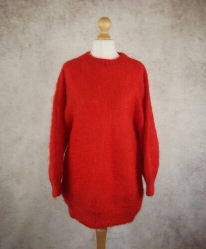 Unit M Jumper Red Size Mohair Blend Warm Soft 2 Winter UwII8q