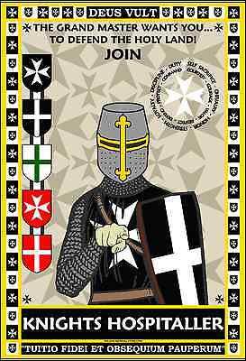Knights Templar 13x19 Praying Poster