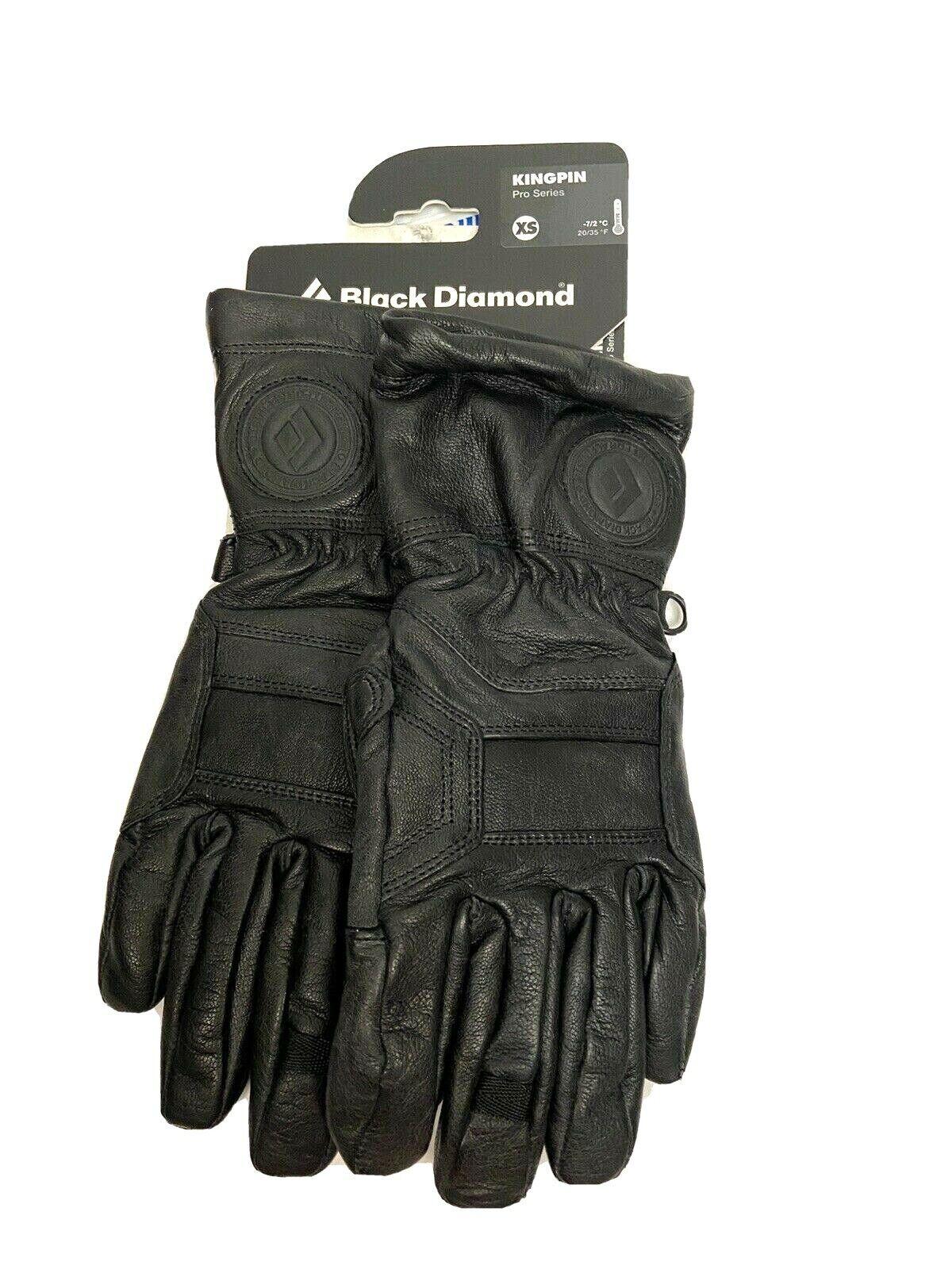 Black Diamond Men's Kingpin Pro Series Gloves XS Black Goat Leather NEW