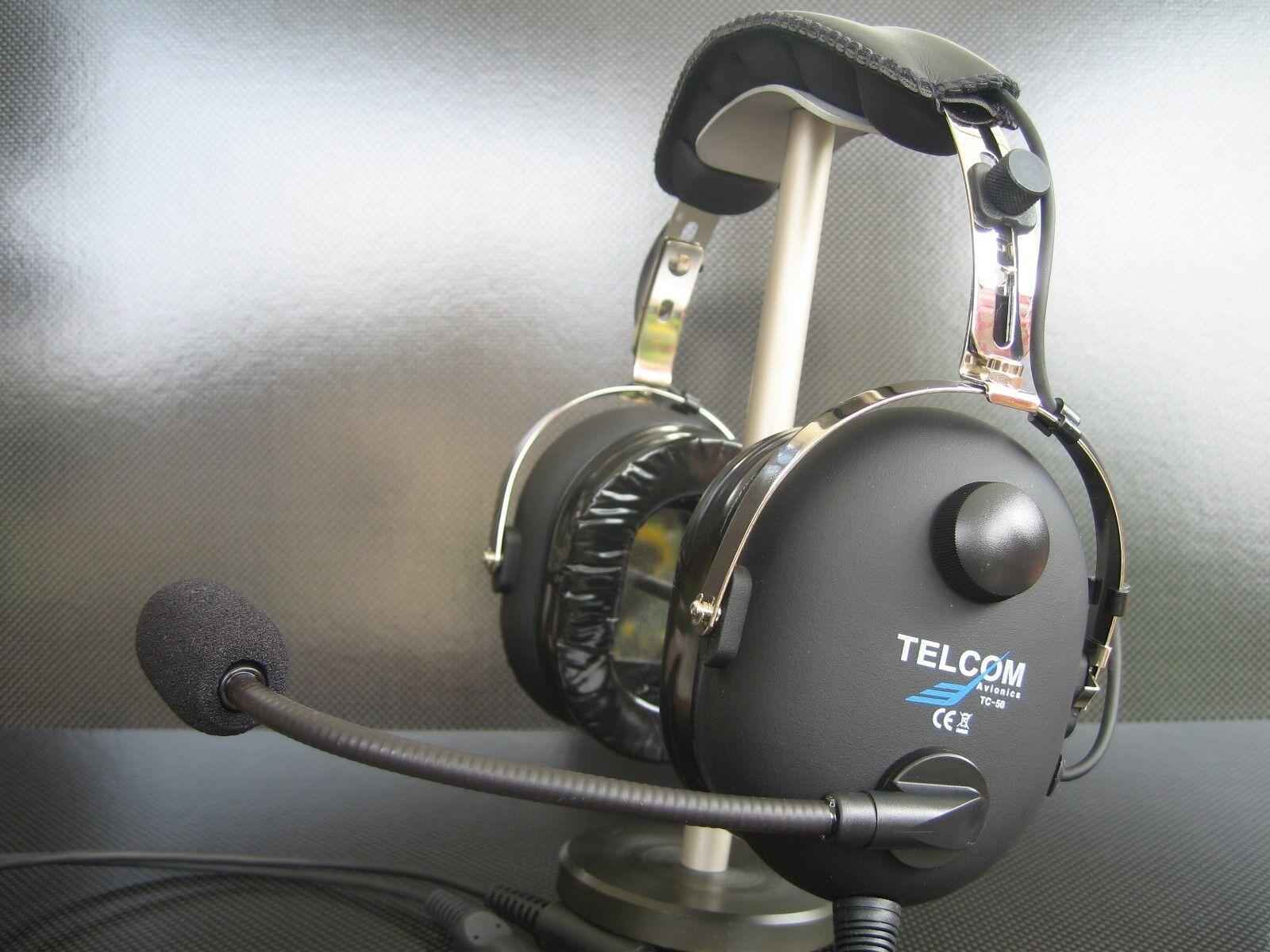 TELCOM TC-50 Headset Kopfhörer für für für die Luftfahrt -31dB Dämpfung Modell 2019 4c765e