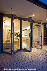Custom Made Aluminium Bifold (Bi fold) Doors - Any Size, Colour or Configuration
