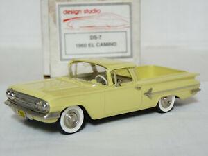 Design-Studio-Motor-City-1-43-039-60-Chevrolet-El-Camino-Handmade-White-Metal-Model