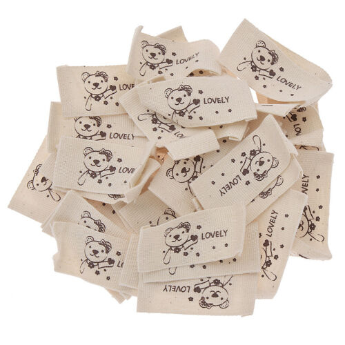 50Pcs Cloth Woven Labels Tags Washable DIY Clothing Accessories Sewing Crafts