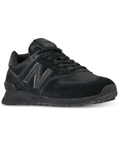 NEW-in-Box-New-Balance-Men-039-s-574-Casual-Sneakers-Triple-Black-Size-7-5