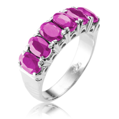 Ladies Shipton and Co Silver and 3ct Ruby Ring TFE177RU